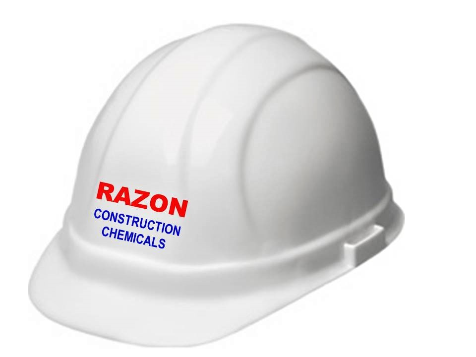 Hard Hat of RAZON CONSTRUCTION CHEMICALS | Water Proofing in Pune | Construction Chemical Manufacturer India | Construction Chemical | Waterproofing Chemicals