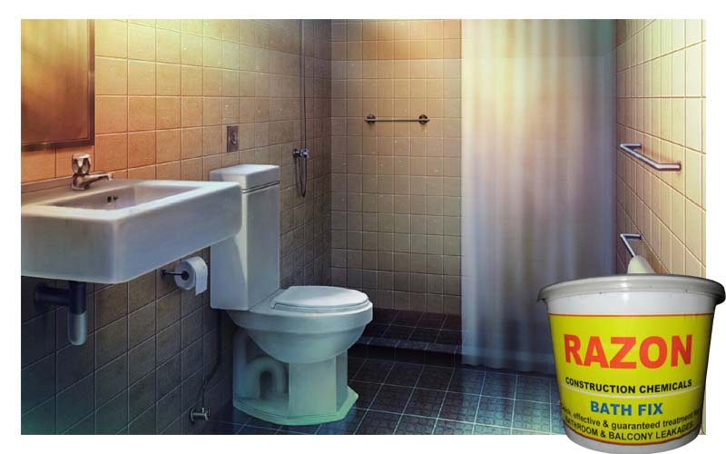 WATERPROOFING WITHOUT REMOVING TILES